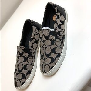 Coach Slip-On Canvas Sneakers